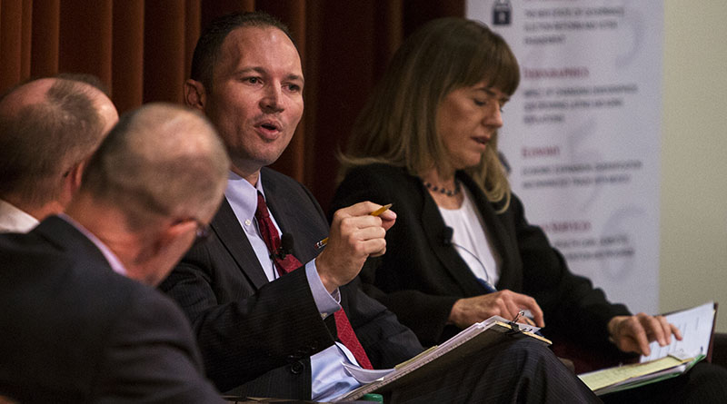J.P. Holyoak speaks during an Arizona State University Morrison Institute for Public Policy roundtable about marijuana legalization, on June 4, 2015, in Phoenix.  Photo by Sean Logan | News21