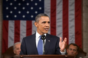 President Barack Obama giving the 2011 State of the Union address at the U.S. Capitol in Washington, D.C.