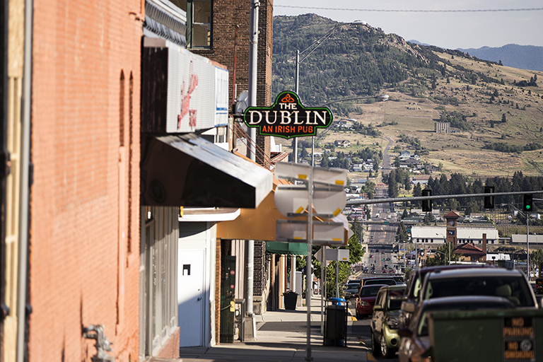 Montana's medical marijuana program ballooned in size from 2009 to 2011 after the U.S. Department of Justice said it wouldn't interfere with the state's legalization laws. But as the system grew, mariajuana businesses started popping up across from chruches and near schools, including the city of Butte, shown here.