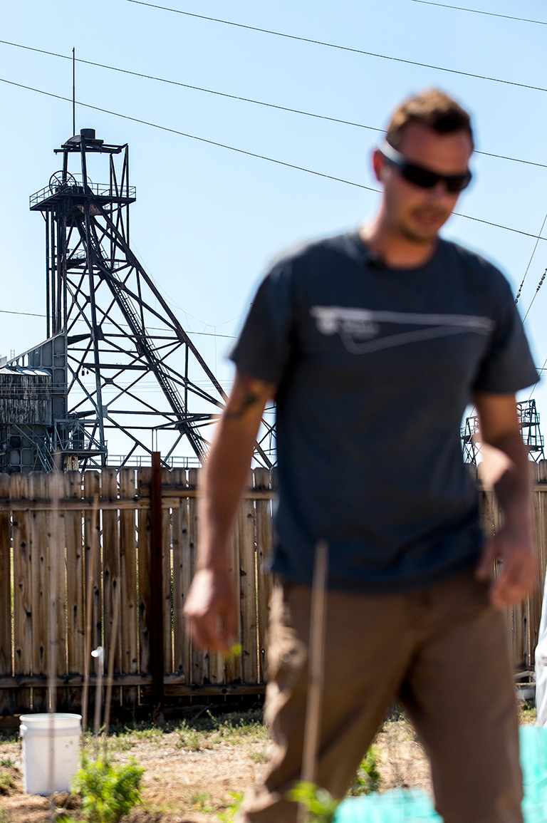 Mark Gibbons Jr.'s, whose medical dispensary overlooks an old mine headframe in the historic uptown district of Butte.